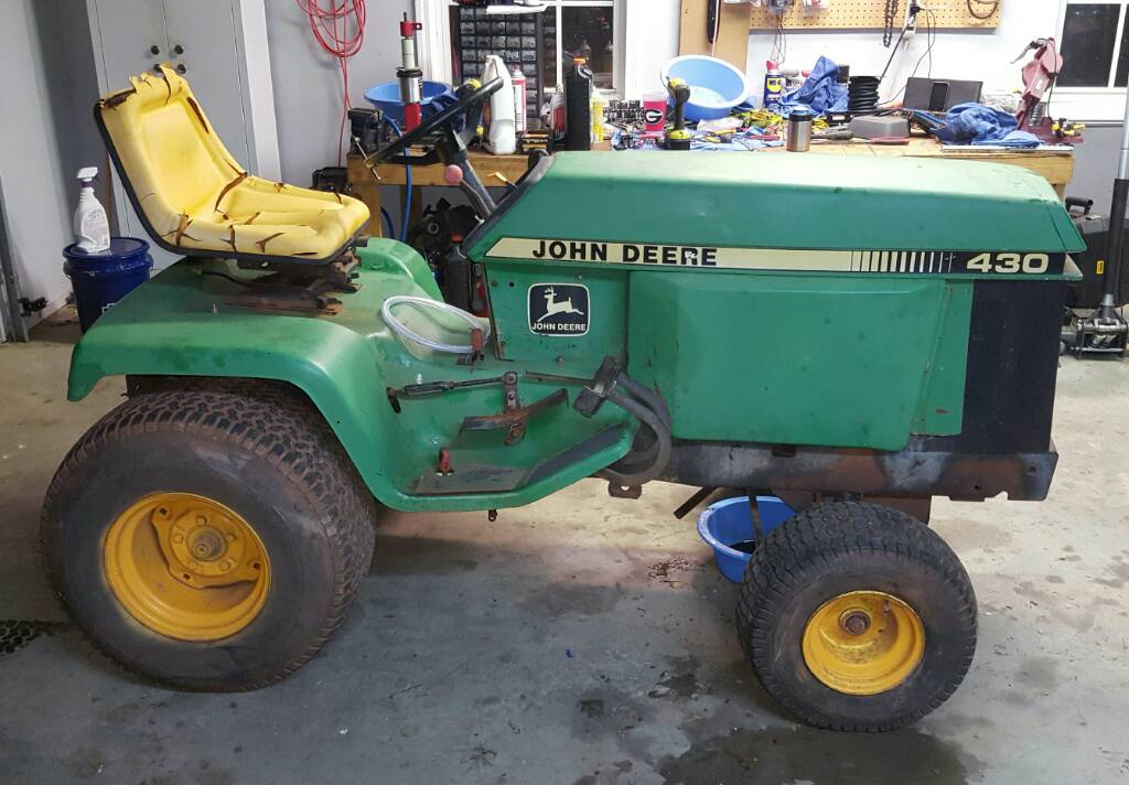 john deere 430 garden tractor parts manual