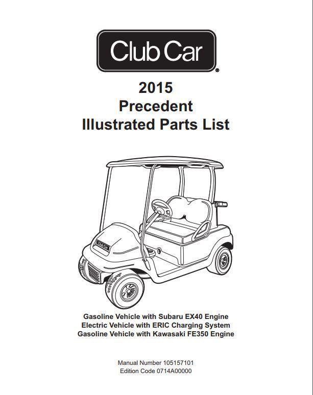 club car precedent parts manual