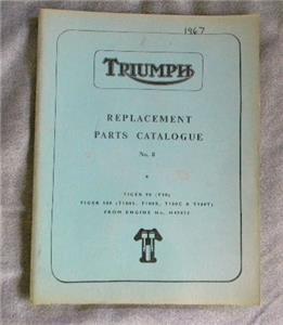 1970 triumph t100c parts manual