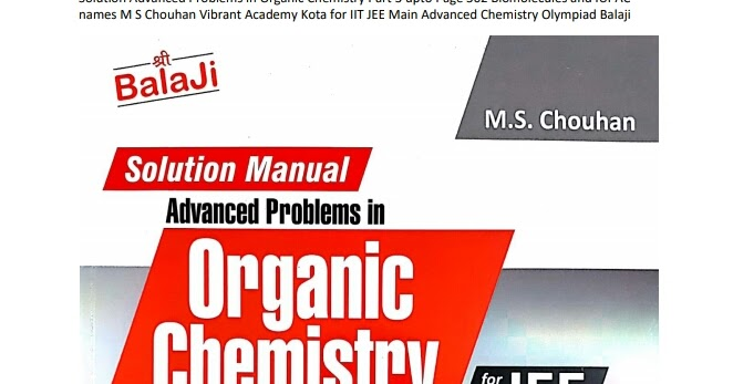 advanced organic chemistry solutions manual