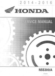 2014-2016 honda nss300 a forza scooter service manual