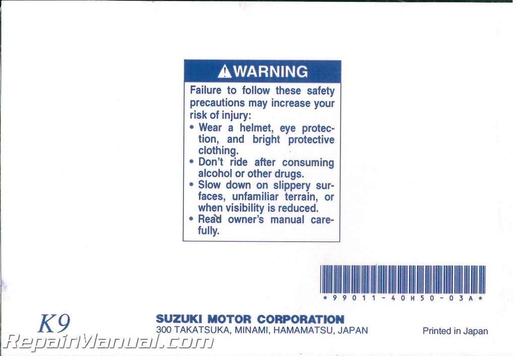 2009 manual for honda suzuki m90 motorcycle
