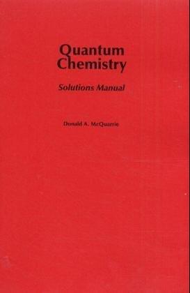 donald mcquarrie quantum chemistry solutions manual
