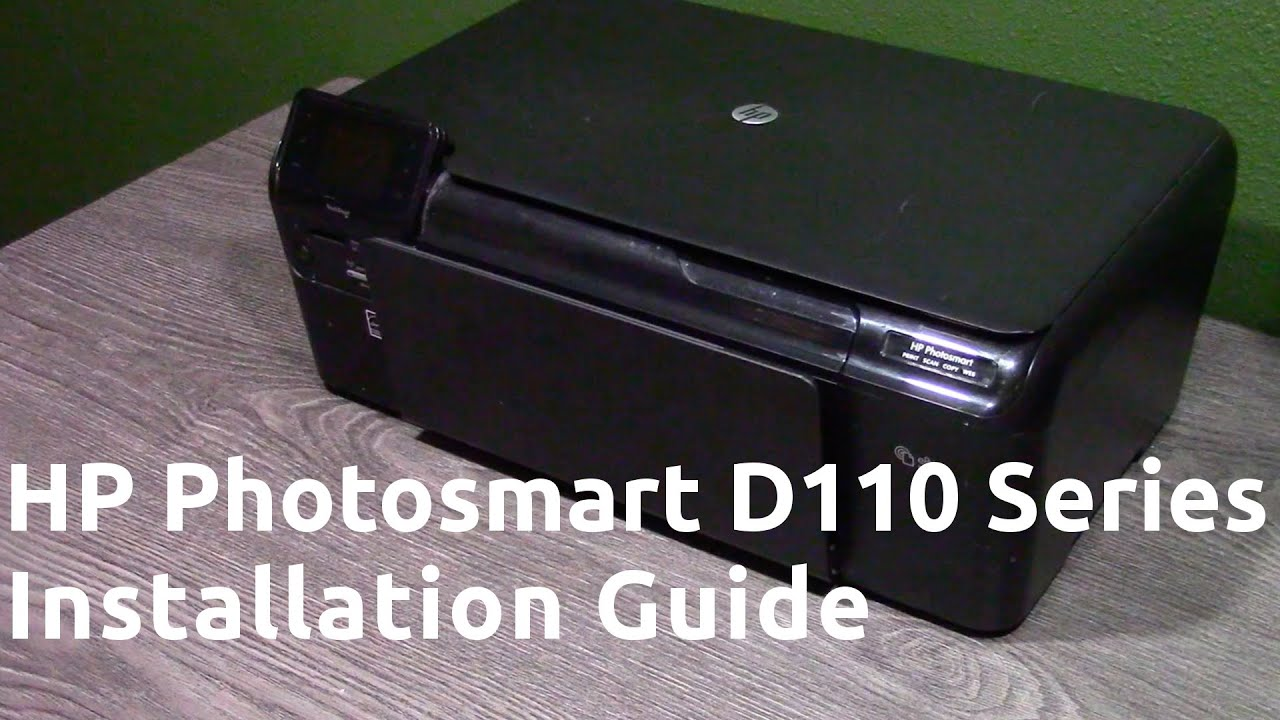 hp photosmart d110 series printer manual