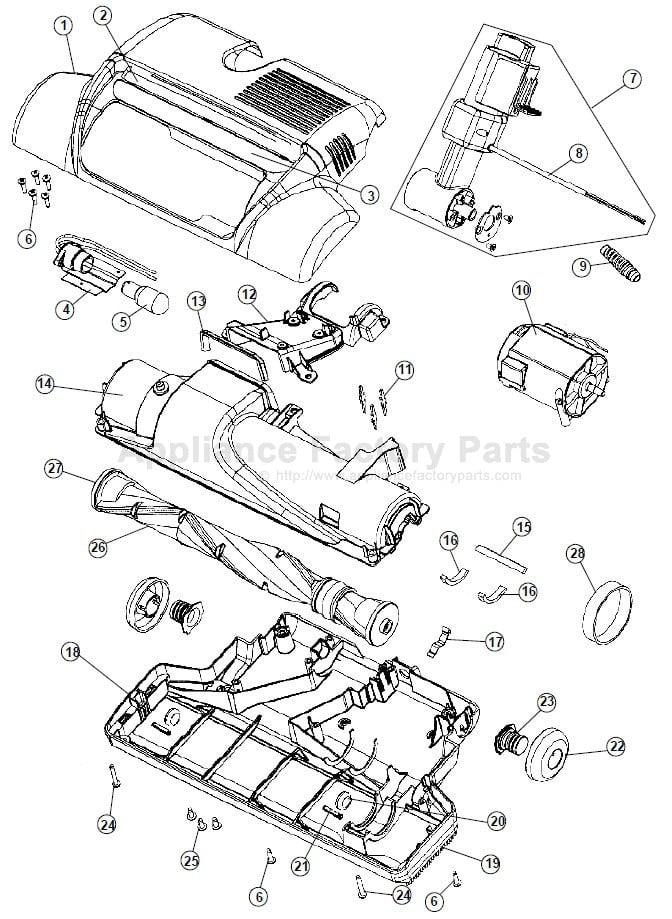 hoover model u6432-900 parts manual