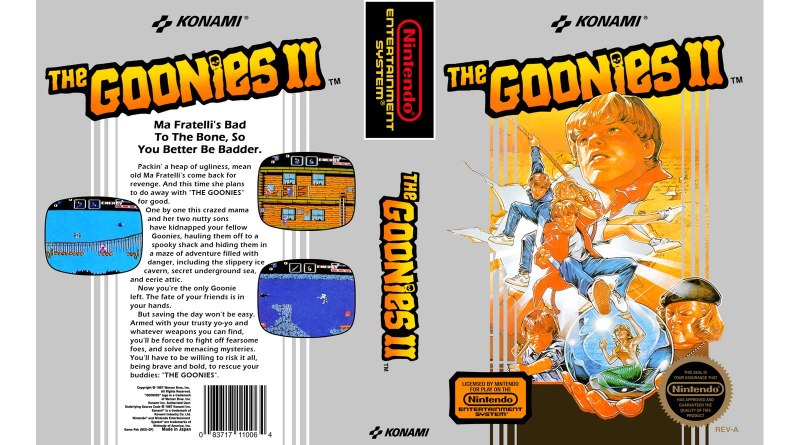 the goonies 2 nes manual