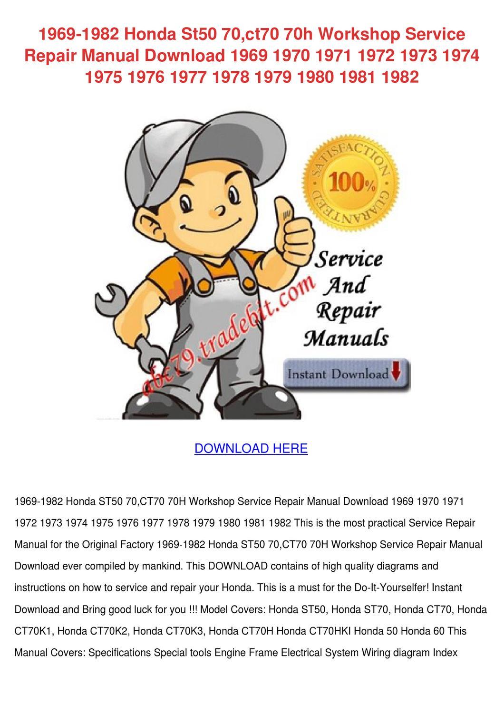honda st70 service manual download