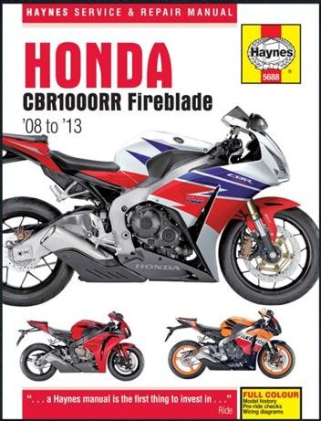 honda cbr1000rr 2009 workshop manual