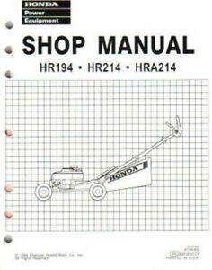 honda lawn mower hr195 manual