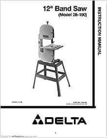 parts manual delta bandsaw 28-243