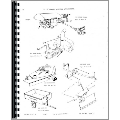 massey ferguson tractor parts manual