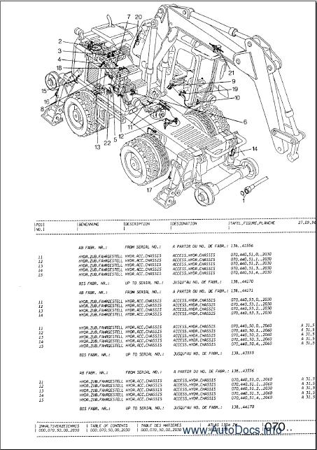 atlas terex excavators parts manuals