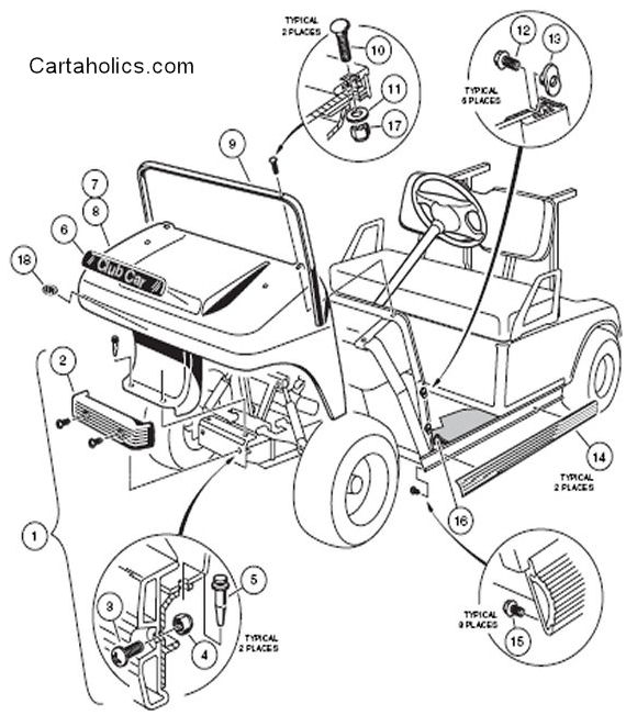 club car precedent parts manual