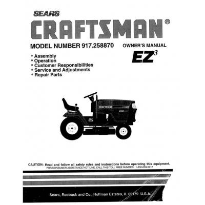craftsman 18.5 hp lawn tractor manual