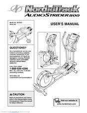 nordictrack audiostrider 800 parts manual