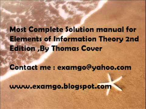 elements of information theory 2nd edition solution manual