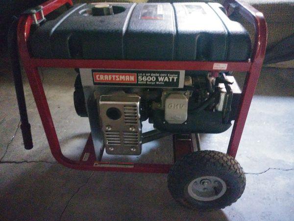 craftsman briggs & stratton generator 5600 watt 10 hp manual
