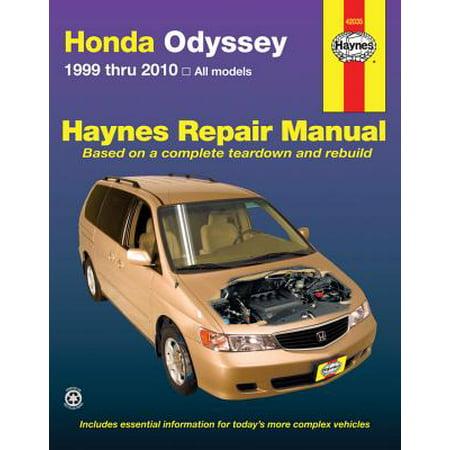 haynes honda odyssey repair manual free