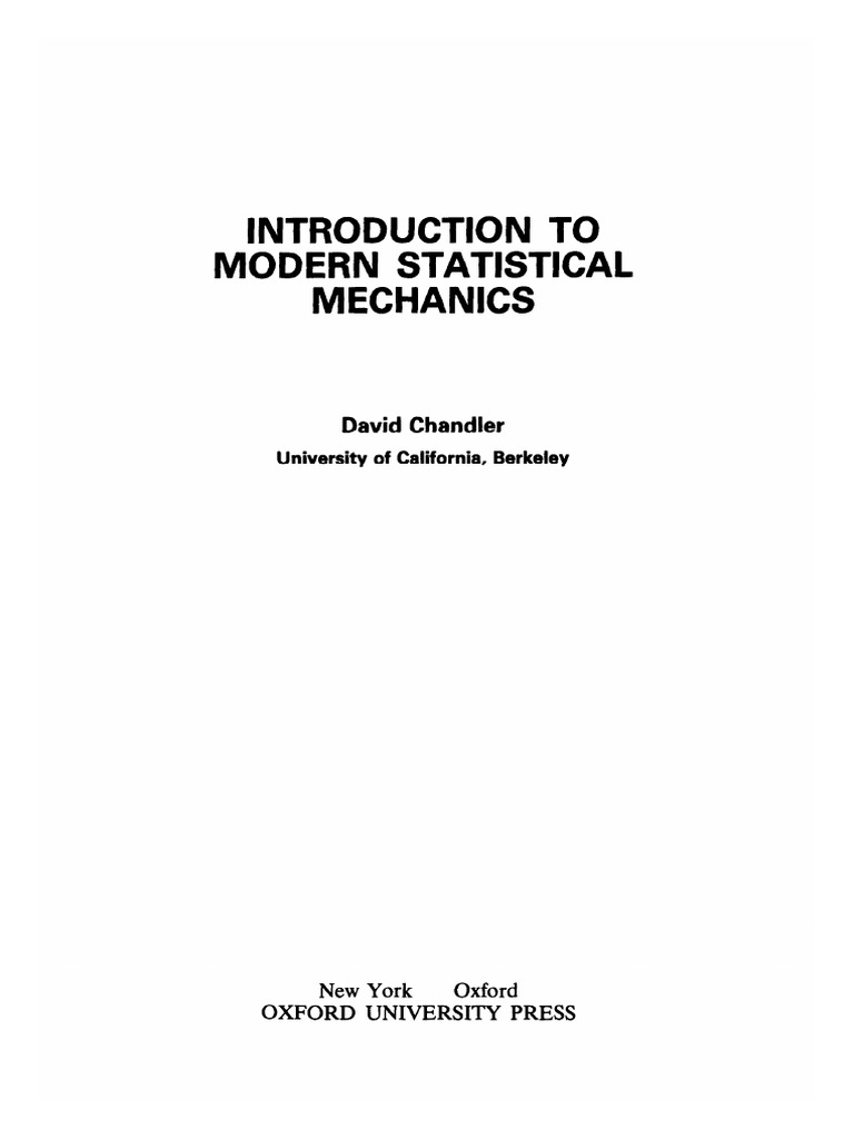 introduction to modern statistical mechanics solution manual
