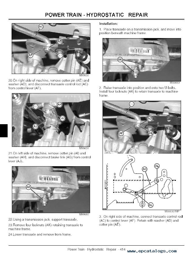 john deere lx279 parts manual