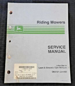 john deere riding mower parts manual