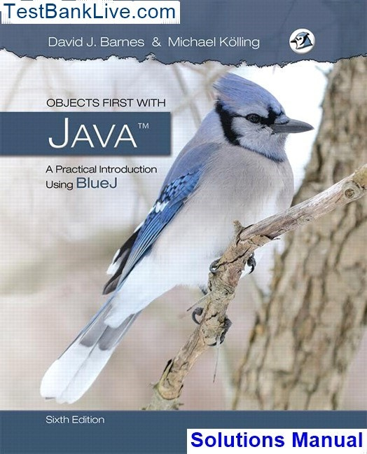 objects first with java 5th edition solutions manual